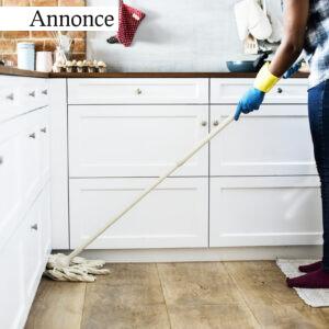 rengøring i køkkenet